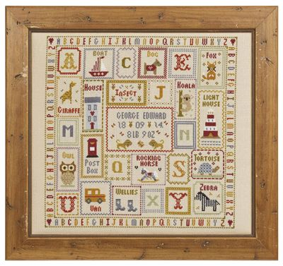 K is for Koala Birth Sampler   Size: 32cm x 32cm  16 count aida - £35.25 32 count linen - £35.25 Chart Pack - £11.00  10% off our entire range
