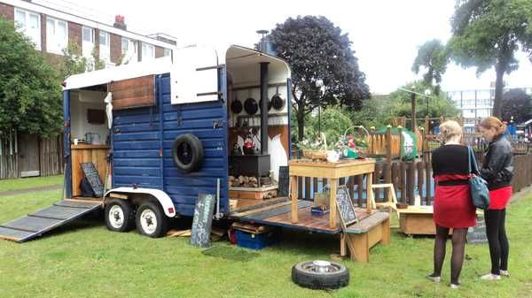 Converted Horse Trailer...Barkingside 21: Find the Energy Cafe a mobile community kitchen
