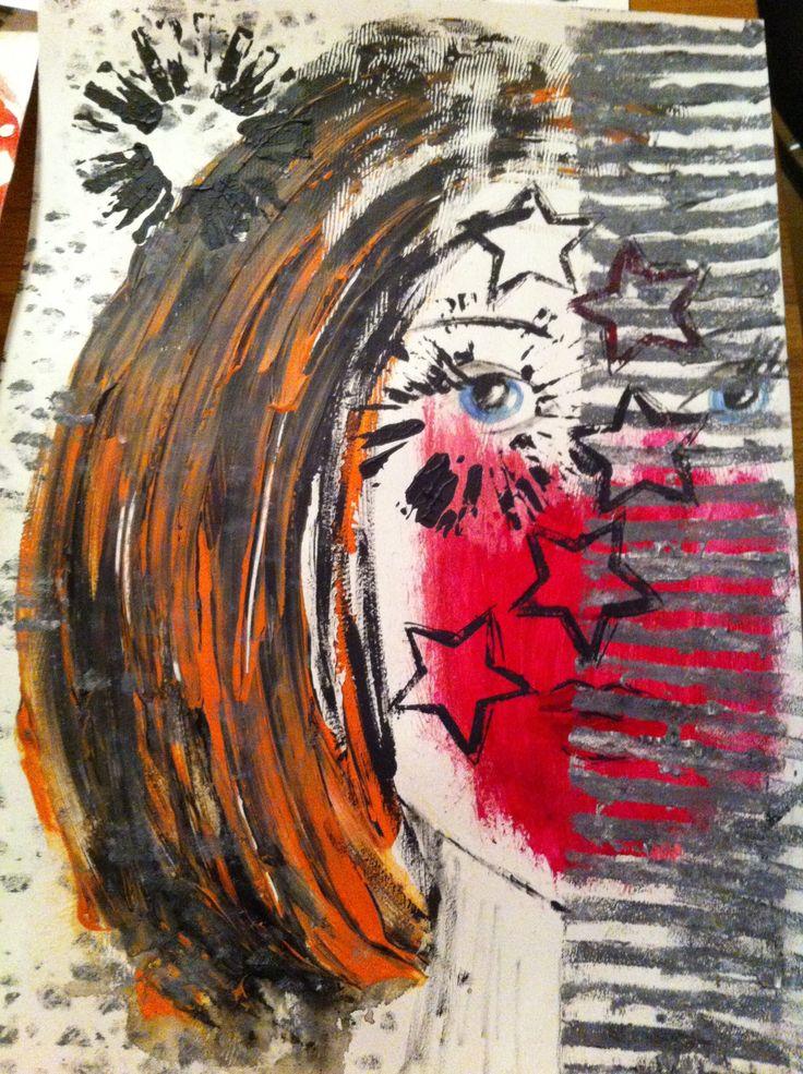 mixed art 30x40