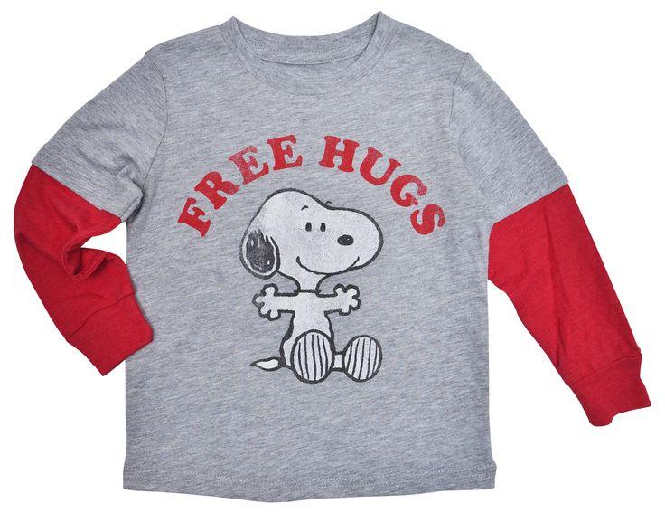 Peanuts Snoopy Hugs Baby Boys Long Sleeve Shirt 12-Months