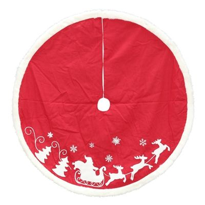 Holiday Living 56-in Santa's Sleigh Red Tree Skirt