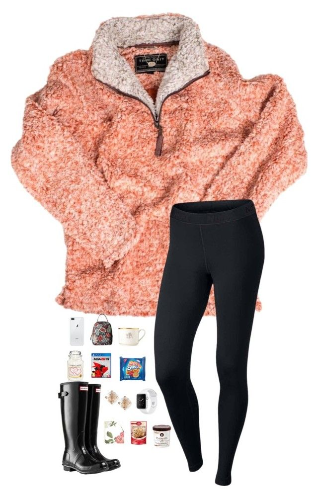 """Went to a basketball game last night!"" by jessicasmith17 ❤ liked on Polyvore featuring True Grit, NIKE, Hunter, Kendra Scott, Yankee Candle, Vera Bradley, Pickard, Suzanne Kalan and Betty Crocker"
