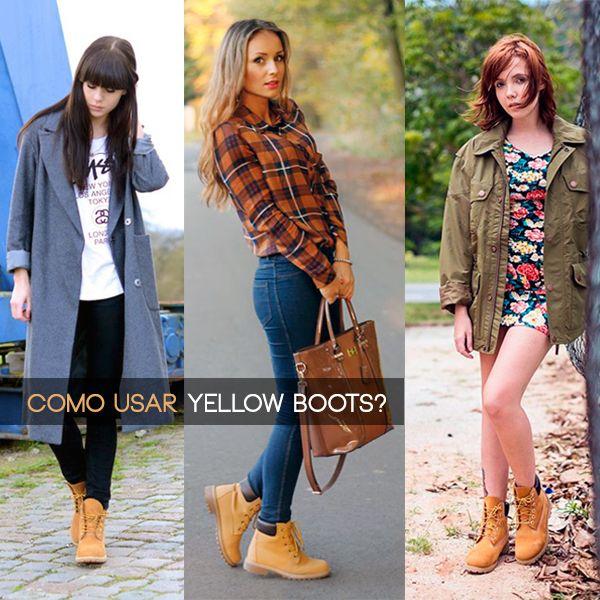 Tendência Outono/Inverno 2015 - Yellow Boots