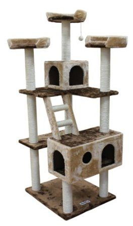 Kitty Mansions Beverly Hills Cat Tree, Brown