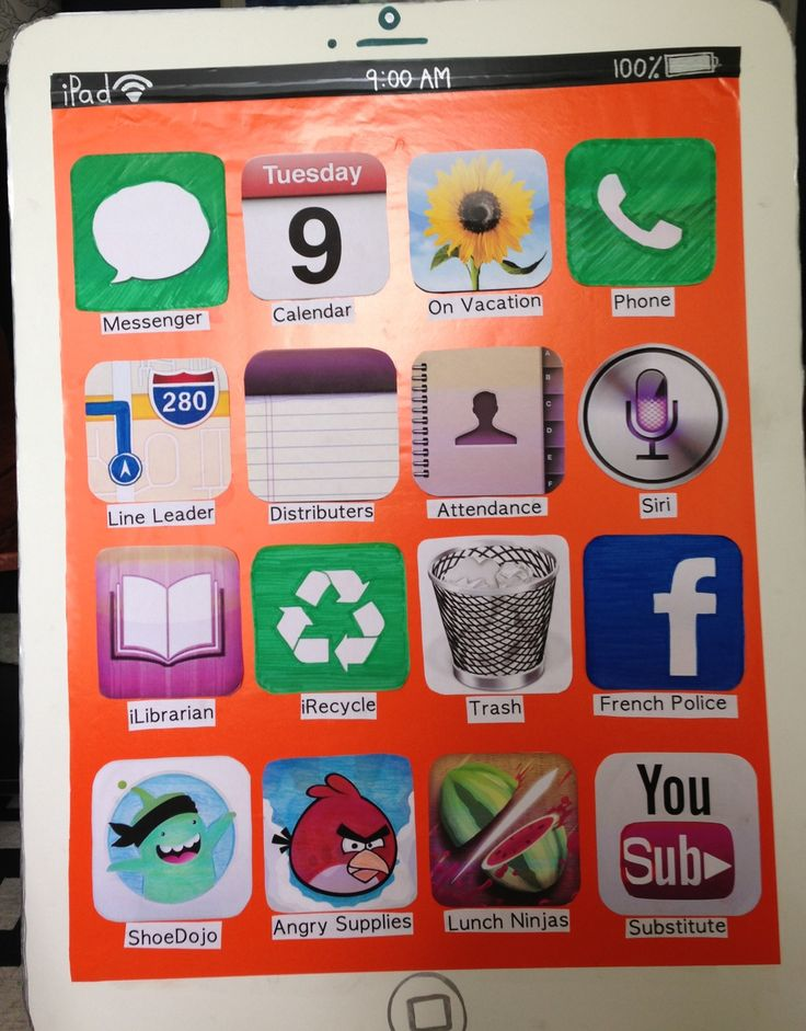 Classrooms always need a job list and what a great way of doing it by using the IPhone. Children are familiar with this and will have fun being an APP for a week.