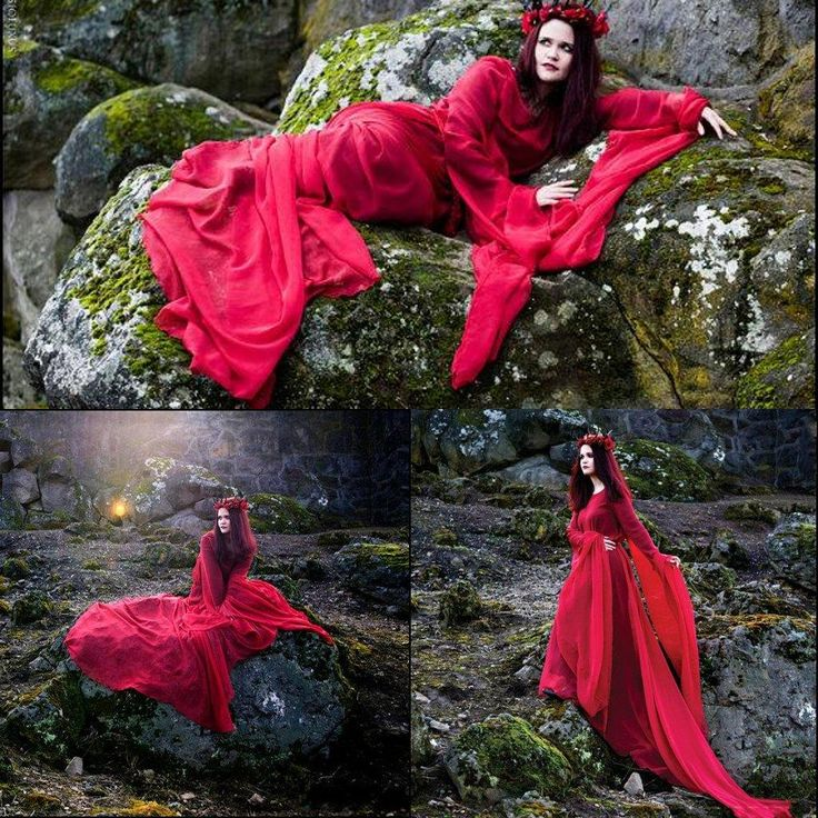 Enchanted evermore red chiffon dracula bride gown wedding for Angel wings wedding dress
