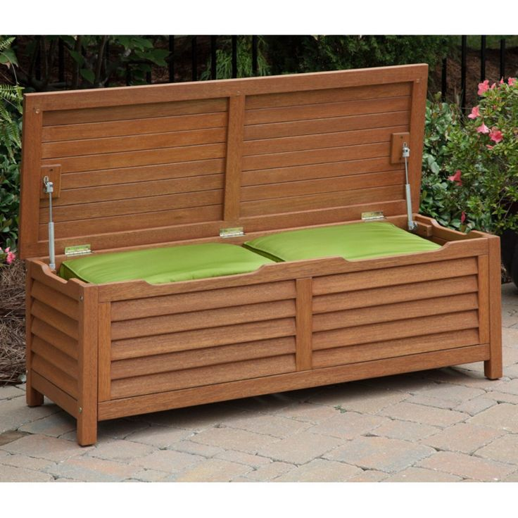 Home Styles Montego Bay 51 in. Deck Box - The Home Styles Montego Bay Deck Box enhances your outdoor living area with versatile storage. It keeps cushions, towels, shoes, reading material, tools,...