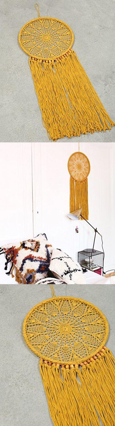 Macrame Dream Catcher Wall Hanging Decoration Tapestry - BOHO Chic Home Decorative Wall Decor - Bohemian Dorm Art Decor - Living Room Bedroom Decorations