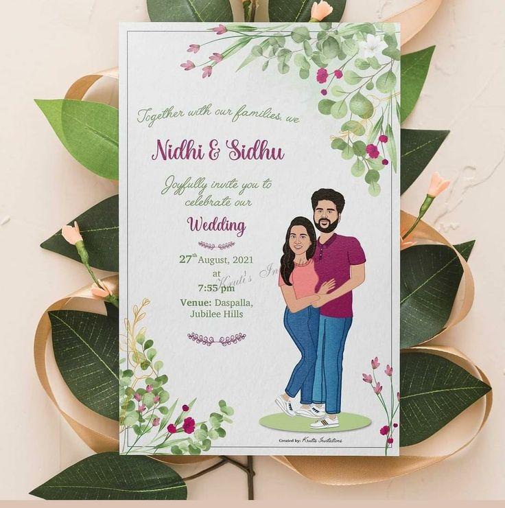 Customized Caricature Wedding Invitation In 2021 Caricature Wedding Invitations Wedding Invitations Invitations