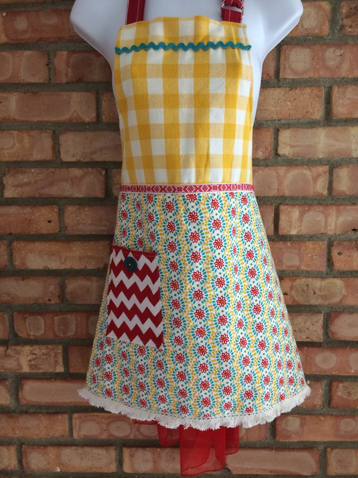 Scandinavian Full Cotton Women's Apron ~ Swedish Trim ~ UpCycled Dishtowel ~ Cotton ~ One-of-a-Kind ~ Multi-Print Apron ~ Great Holiday Gift by ArtThatCooks on Etsy-SOLD