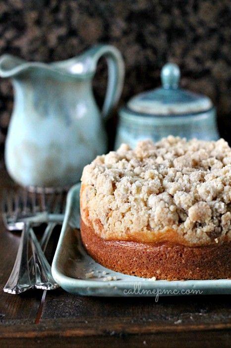 Amaretto Cream Cheese Coffee Cake Recipe with Cinnamon Streusel - oh dear!!