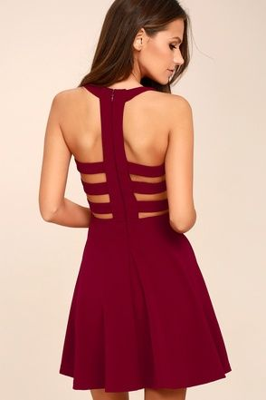 Maroon Red Short Homecoming Dresses Under $100