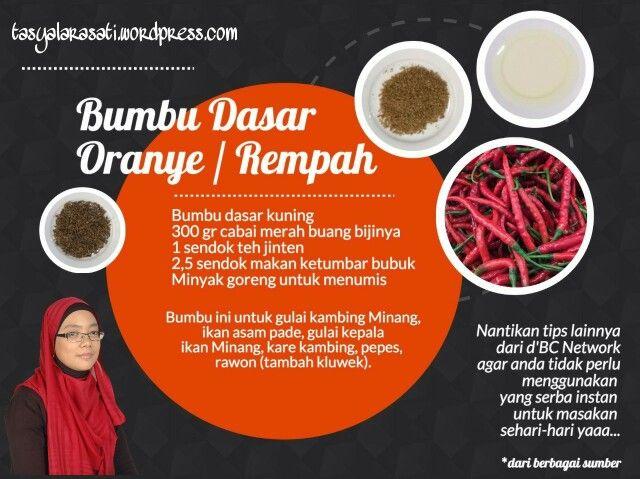 Bumbu dasar oranye/rempah #TipsRamadhan