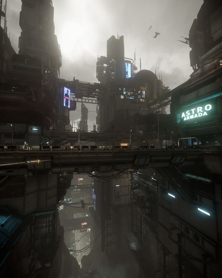 Star Citizen Lighting: ArcCorp, Emre Switzer on ArtStation at https://www.artstation.com/artwork/OvN1y