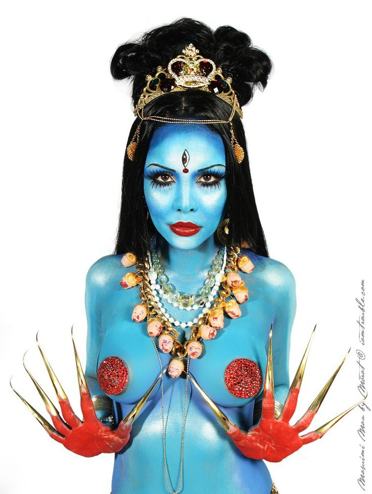 Wrath Body Painting on Pinterest | Kali Ma, Kali Hindu and The Goddess