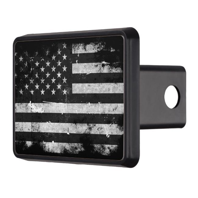 Black And White Grunge American Flag Trailer Hitch Cover Zazzle Com Trailer Hitch Cover Hitch Cover Trailer Hitch