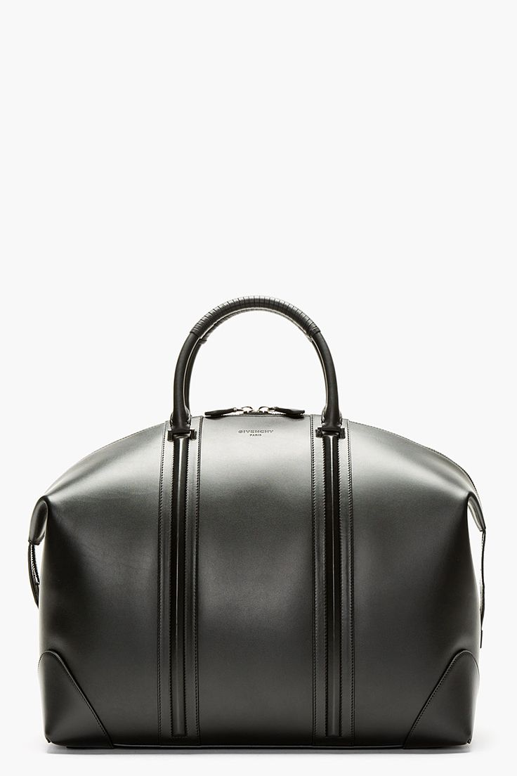 Givenchy Black Leather Lc Duffle Bag for men | SSENSE