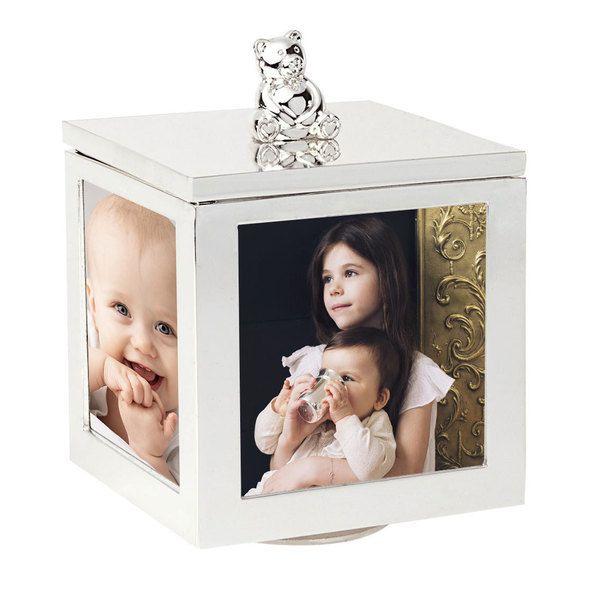 Cadre boite à bijoux musicale ourson (personnalisé) PremierCadeau