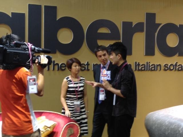 R. Sbroggiò & Alberta Salotti interviewed by Chinese Press