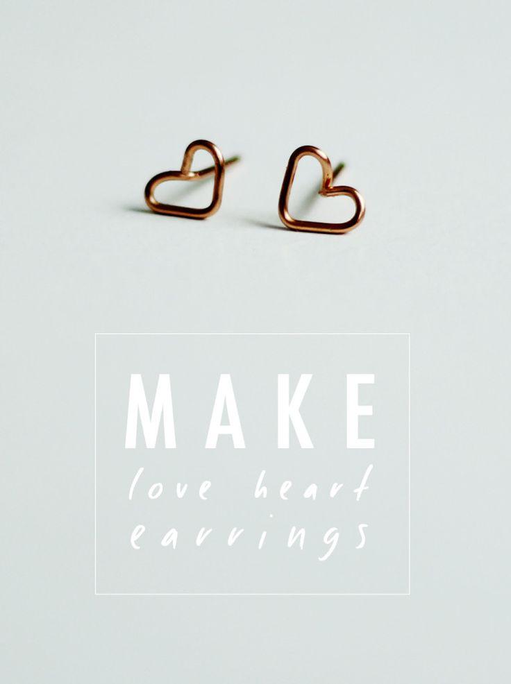 DIY: heart earrings