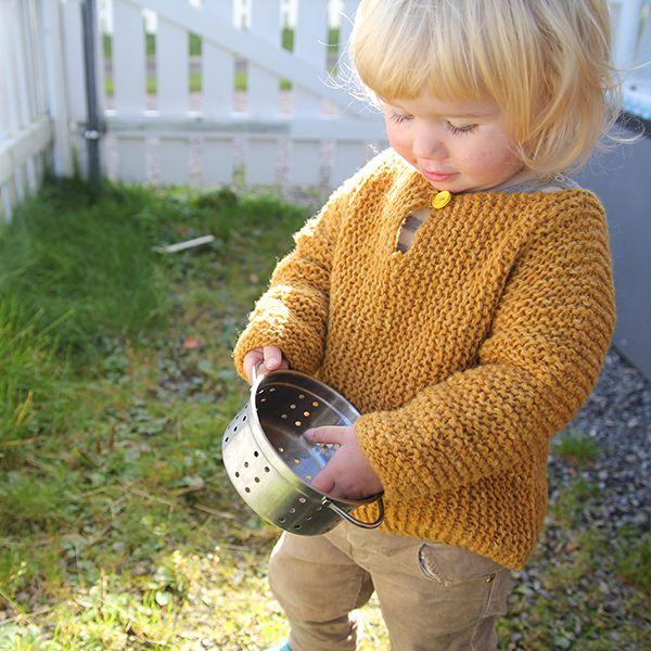 Enkel bestefartrøye - 1-8 år Granddaddy's sweater from Pickles.no - norwegian pattern 50 NKR