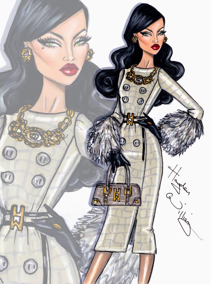 Hayden Williams fashion illustrator. Ugh I just love fashion sketches<333