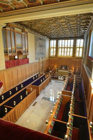 The interior of the Chapel Royal at St James's Palace where pRince George of Cambridge will be christened.