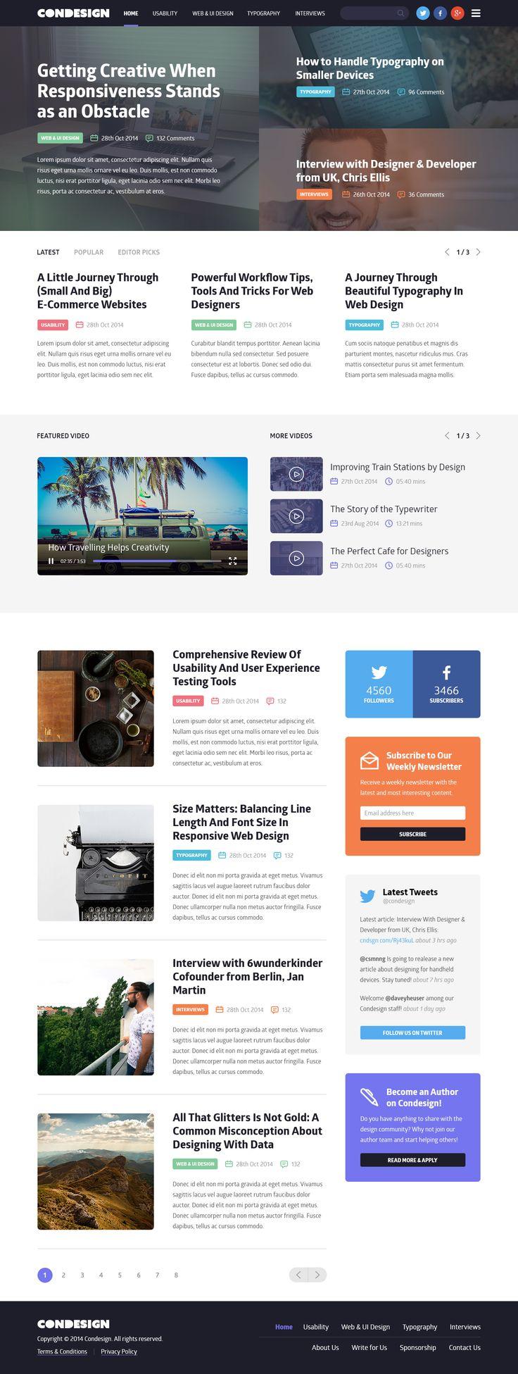 Condesign Blog Concept #blog #website #web [www.pinterest.com/loganless]