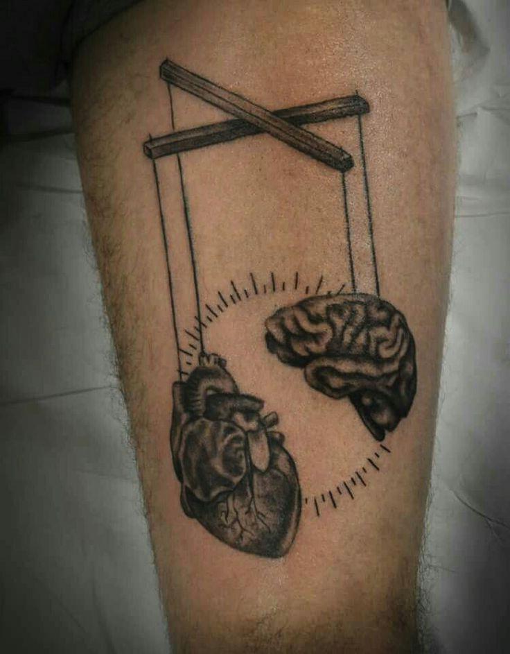 Brain and heart tattoo #ModusINK #Oporto #Portugal #Ink #Tattoo #Piercings #Tattoos #bodyart #instaart #tats #Tatuagem #art #inked #tattooartist #Porto #studio #portugaltattoo #instatattoo #tattoer #inkaddict #tattoist #tattoodesign #tattoed