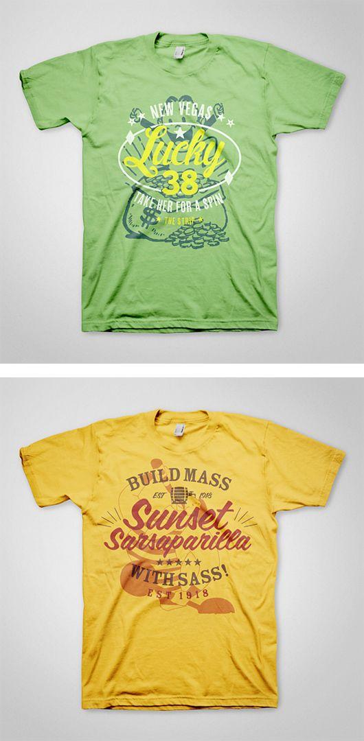 Fallout T-Shirts by Ello Mate Studio | Inspiration Grid | Design Inspiration