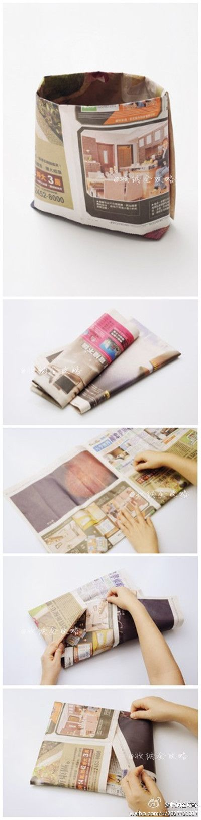 NewsPaper Bag DIY