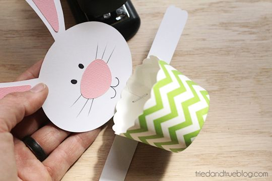 Use paper treat cup to catch the Easter goodies