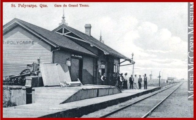 ST-POLYCARPE, Québec- Grand Trunk Train Station-gare a href=httpcollection.mccord.mcgill.caencollectionartifactsMP-0000.931.6 - Neo Gothic Revival Style architecture OL