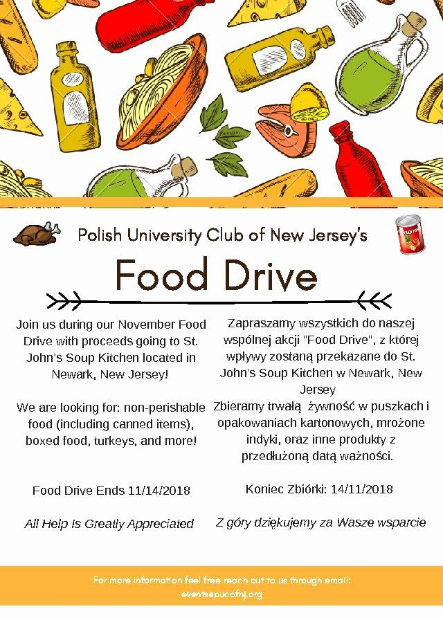 Thanksgiving Food Drive Flyer New Puc Thanksgiving Food