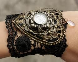 Steampunk watch for women.