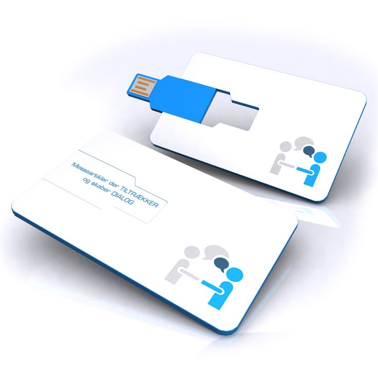 USB card with the print of your logo or product symbol.