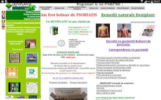 PSORIAZIS-CORESPONDENTA  DENIPLANT: Deniplant previne si trateaza psoriazisul