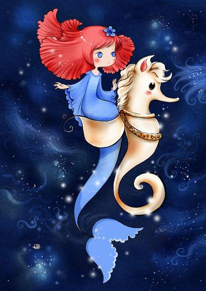 'Mermaid and Seahorse' by Nicola Robin