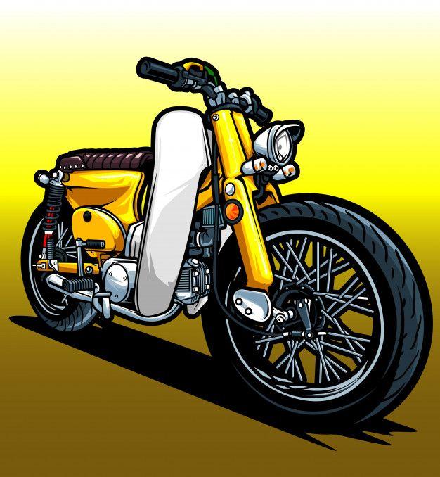 Honda Motorcycles Logo Design Motorcycle Illustration Honda