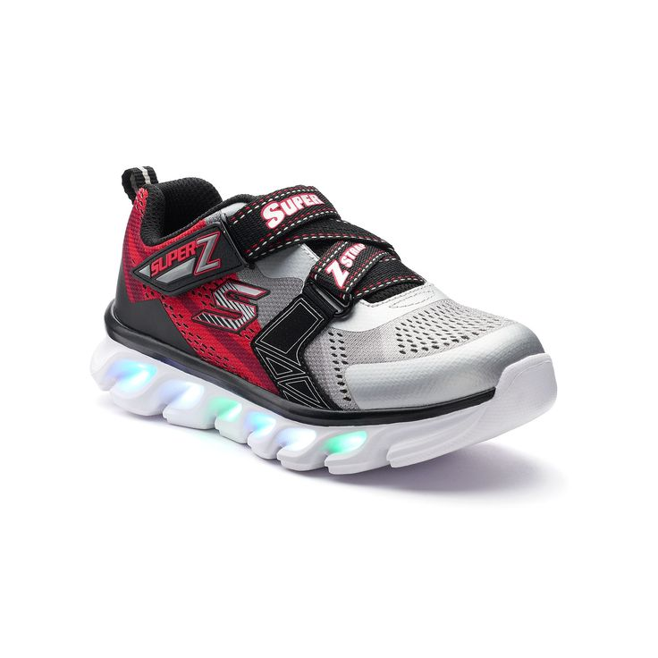 Skechers S Lights Hypno-Flash Boys' Light-Up Shoes, Boy's, Size: 11, Beige Over