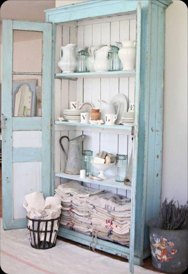 25+ beste ideeën over Shabby chic selber machen garderobe op Pinterest - küchenschrank selber bauen