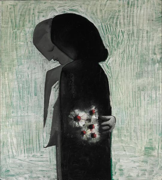 Lovers, 1960, Charles Blackman. Australian, born in 1928.   Via
