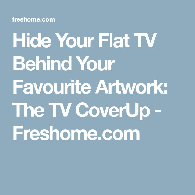 Hide Your Flat TV Behind Your Favourite Artwork: The TV CoverUp - Freshome.com