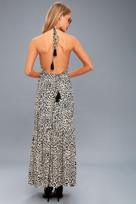 5c038ef02bb Roma Beige Leopard Print Halter Maxi Dress 3