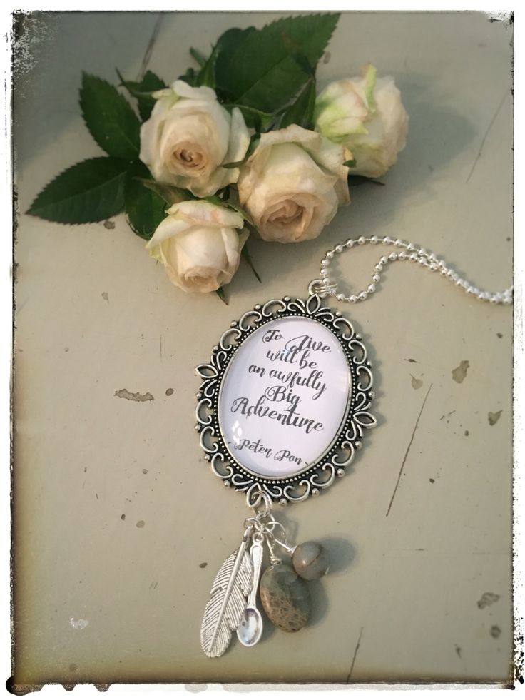 To Live will be an Awfully big Adventure - Peter Pan. Sweet spoon cameo, hand made on www.varalusikka.fi