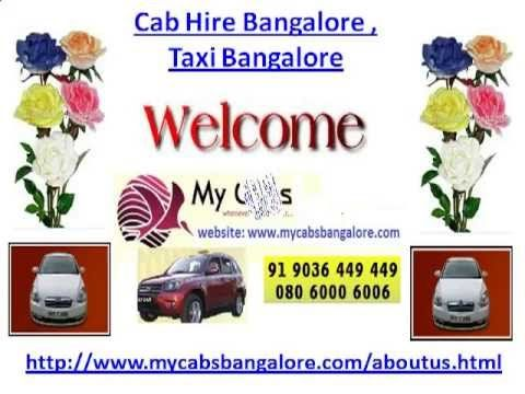Cab Hire Bangalore , Taxi Bangalore - YouTube