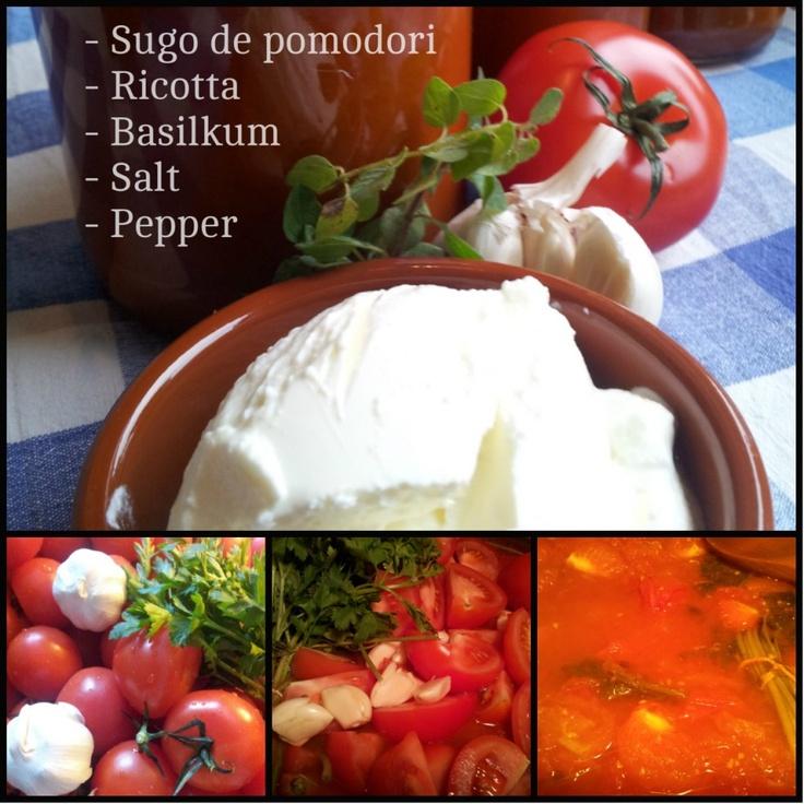 Salsa de ricotta e pomodori  more at www.hjemmekokklauget.no