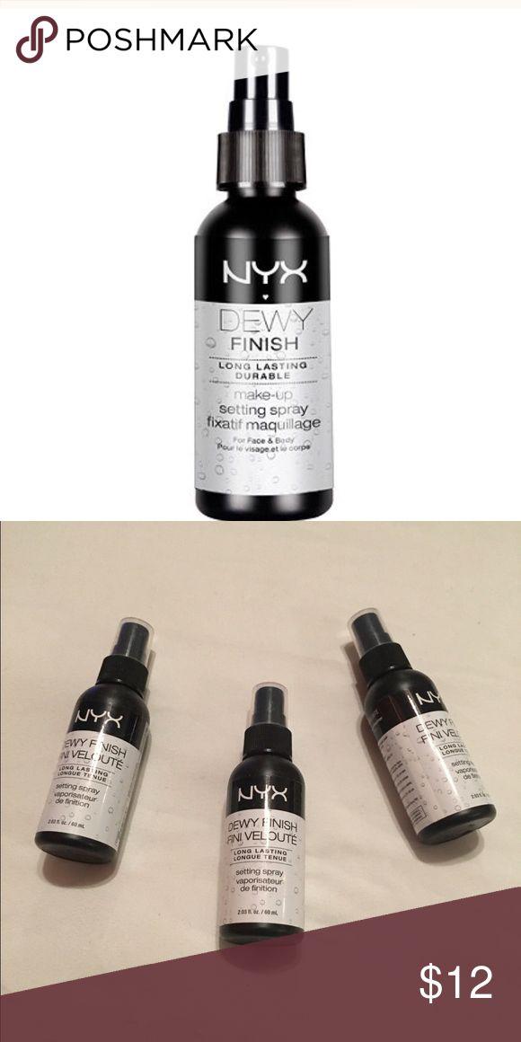 NYX FINISH SPRAY Set of 3 New DEWEY FINISH SETTING SPRAY SET OF 3 Makes makeup POP! NYX Makeup Luminizer