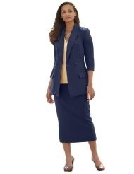 Jessica London Plus Size Double Breasted Skirt Suit