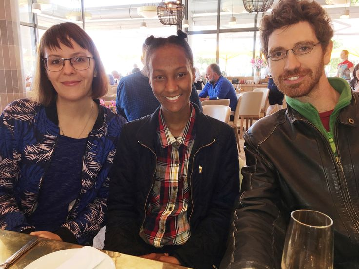Celebrating Alyssa Eksteen's birthday at Lily's in Mouille Point, Cape Town, 06/10/2017. Here are Caro, Alyssa and Simon.